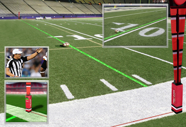NFL And NCAA College Football Playoffs Games Need First Down Laser Systems Now - Sports Techie blog.