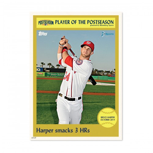 Topps First-Ever Daily Wall Art Prints on Topps.com Prove To Be A Hit During The MLB Postseason.