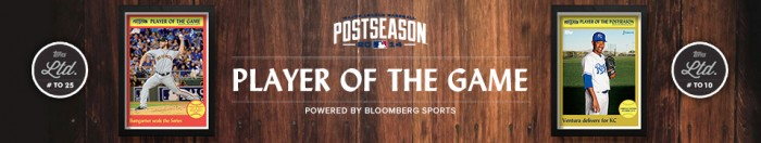 Madison Bumgarner, Travis Ishikawa, Among Those Most Requested As Topps/Bloomberg Sports MLB Playoff Player of the Day.