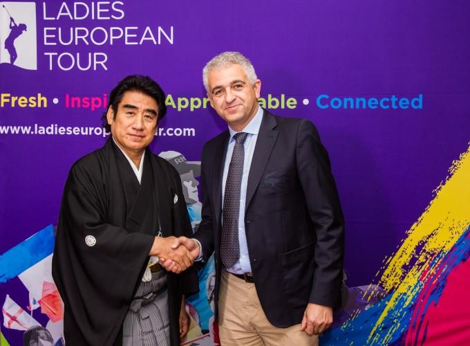 ISPS Chairman Dr Haruhisa Handa (left) and LET CEO Ivan Khodabakhsh (right).