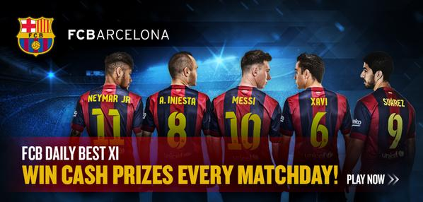 The FC Barcelona version of Mondogoal, FCB Daily Best XI, is now live at www.mondogoal.com/fcbarcelona