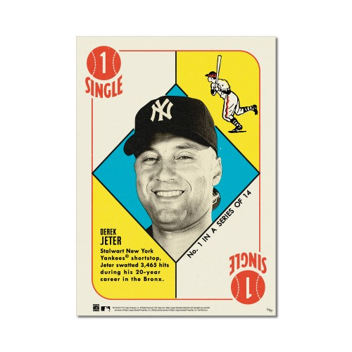 Both sets are post cards size and numbered from 1-99 in tribute to his very first design for Topps back in 1951.