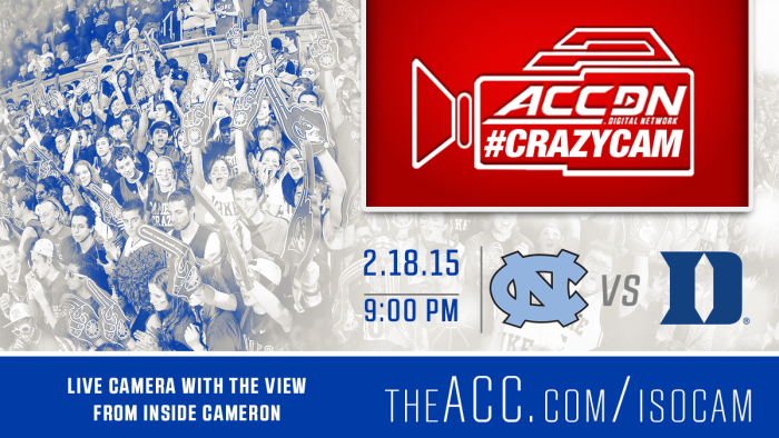 Watch #CRAZYCAM and ACC Postgame Live show at ACC.com.