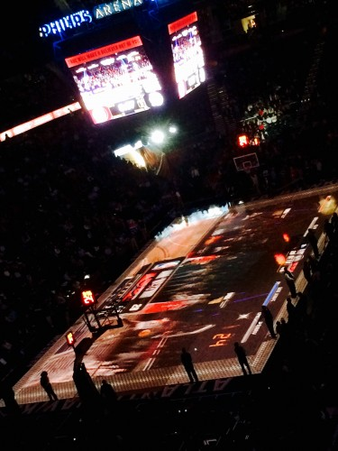 My Hawks fan experience was terrific except for parking and the security metal detectors that took way to long to get through, the NBA Jam game played at halftime over the Phillips Arena full court made up for it.