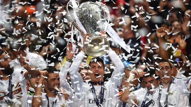 Real Madrid, led by Cristiano Ronaldo, the most popular player on social media in the world with over 100 million likes on Facebook.