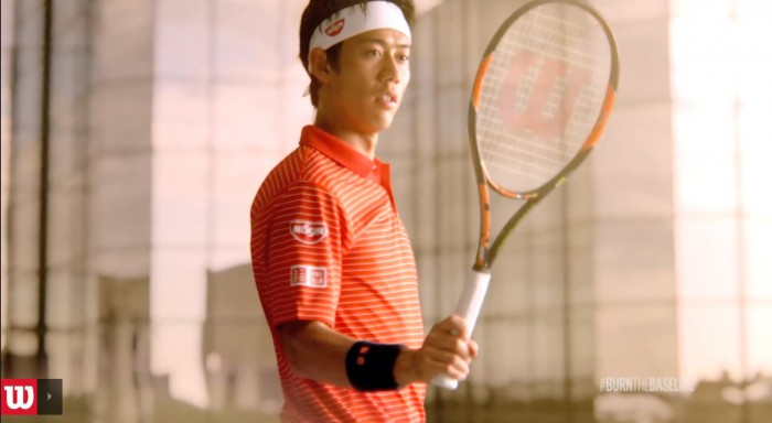 "Wilson Tennis and Japanese superstar, Kei Nishikori, the 2014 U.S. Open winner, have partnered up on ""The Burn"" racket."
