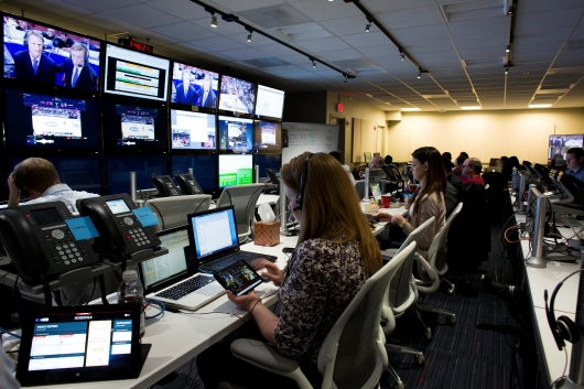 Turner Sports and CBS Sports NCAA March Madness Live. Operations Center