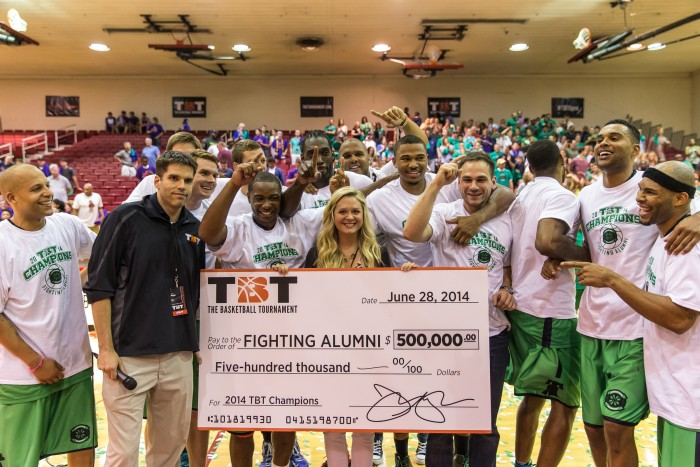 Notre Dame Fighting Alumni are defending TBT champion and ready to take on all challengers for a chance win the million dollar payout.