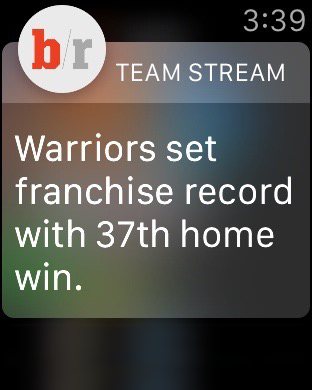 Bleacher Report's Top-Rated Team Stream™ App Now Available on Apple Watch.