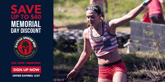 Spartan Race Memorial Day Race Code And Free Giveaway.