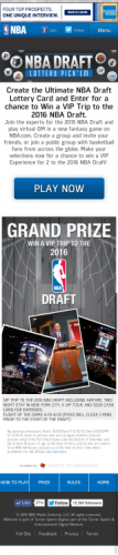 Play the NBA's fantasy game and predict the draft order as a virtual GM with a chance to win a VIP experience to the 2016 NBA Draft.