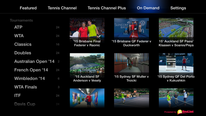 NeuLion® Signs New Multi-Year Agreement with Tennis Channel.