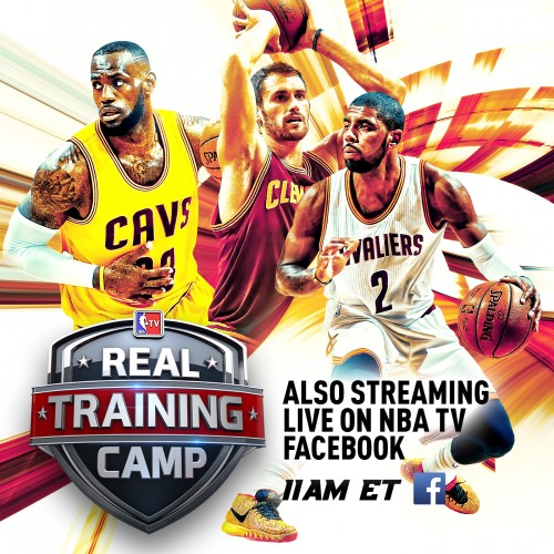 NBA Digital Features Cleveland Cavaliers and LeBron James in First-Ever Live Sports Program Simulcast on Facebook.