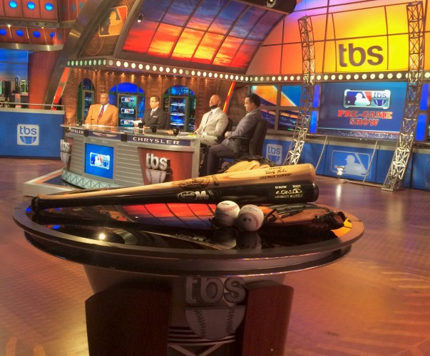 MLB on TBS Studio crew (L-R): Dusty Baker, Casey Stern, Gary Sheffield and Pedro Martinez.