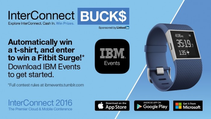 IBM Events Interconnect Bucks$ Fitbit Gamification