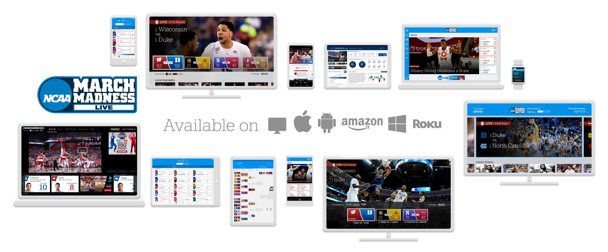 Twelve NCAA March Madness Live App Platforms