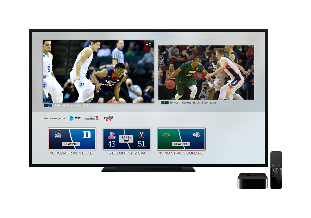 New NCAA March Madness Live App Platforms Include Amazon Fire TV, Apple TV and Roku Redesigned Experience Will Also Offer New Features and Google Cast and Airplay Support