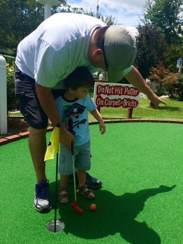 My son is one-fourth Scottish and just played his first round of putt-putt mini golf, perhaps one day we can attend The Open together.