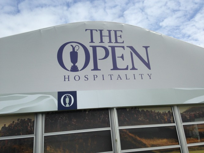 The Open Ch&ionship at Royal Troon Temporary Media And Hospitality Installation. & Exterity Powers The Open Media And Hospitality Tents Live Sports ...