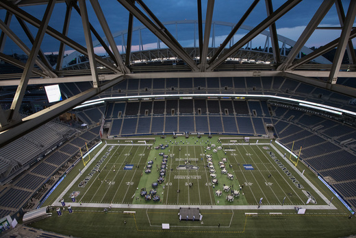 """AMEX """"Dinner on the 50"""" event by American Express in partnership with the Seattle Seahawks, image via Mat Heyward / Getty Images for American Express."""
