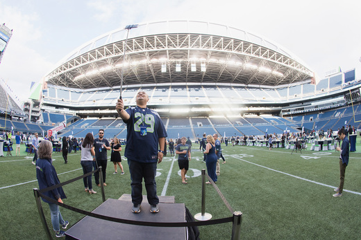 "General view of atmosphere during the American Express hosted ""Dinner On The 50"", an exclusive Card Member event held on CenturyLink Field on August 27, 2016 in Seattle, Washington. (Photo by Mat Hayward/Getty Images for American Express)"