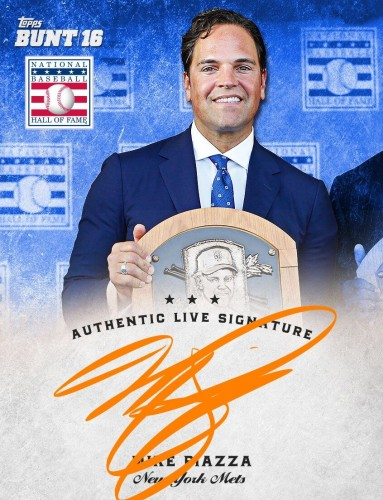 New York Mets Hall of Famer Mike Piazza Made History Again with TOPPS BUNT Digital Signatures.