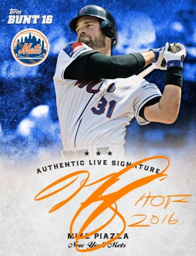 Topps Unveils Live Signature Cards With Mets Hall of Famer Mike Piazza.