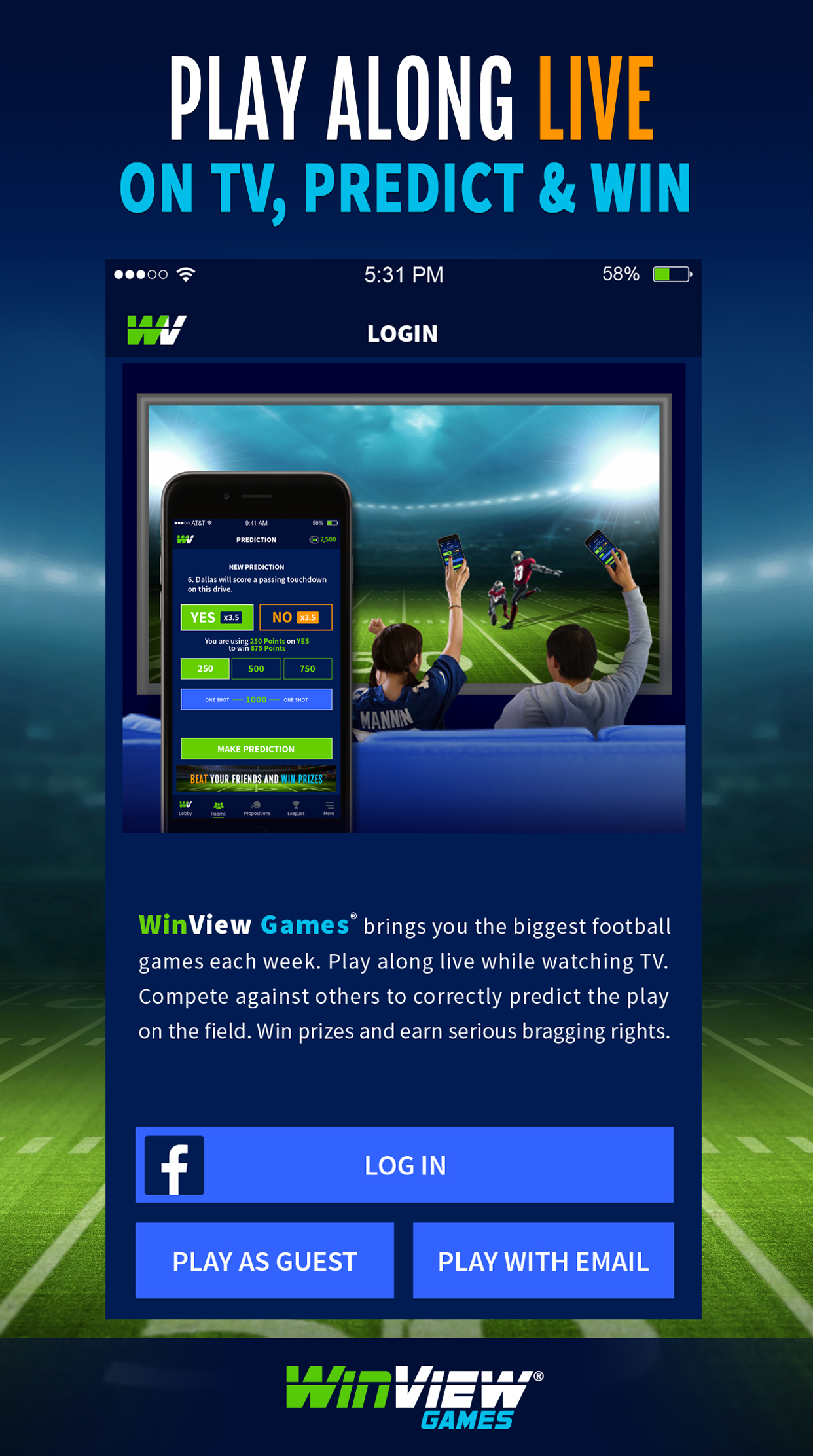WinView Games Live Football Prediction Game Launches For Football Fans - SportsTechie blog.
