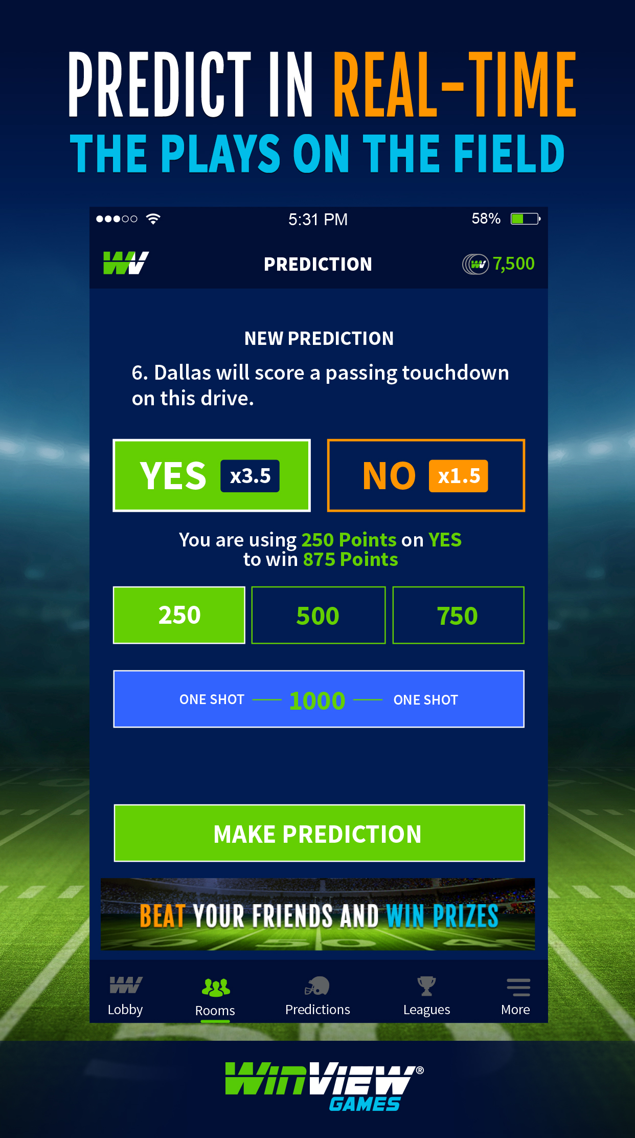 New Live Football Prediction App Puts the Action on the Field Into Fans' Hands