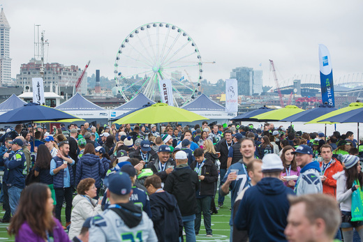 The fan-acclaimed American Express Hawks Island is returning to the Puget Sound for Seattle Seahawks fans – the 12s – on Sunday, October 16, before the Seahawks' game against the Atlanta Falcons.