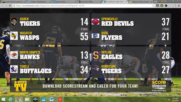 Wing loving fans can also watch a weekly national high school football highlights reel at B-Dubs compiled by ScoreStream.
