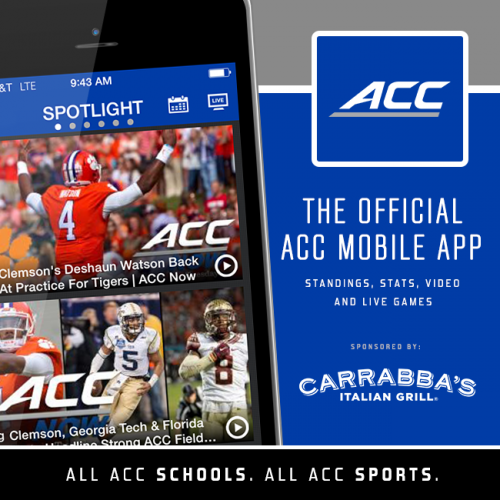 The #ACC Mobile App features live games, video, scores, stats and news.
