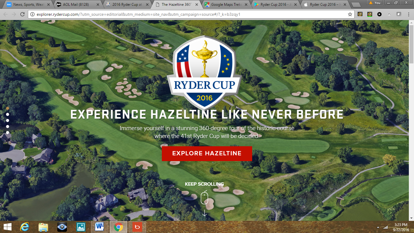 Experience Hazeltine Like Never Before, Ryder Cup.