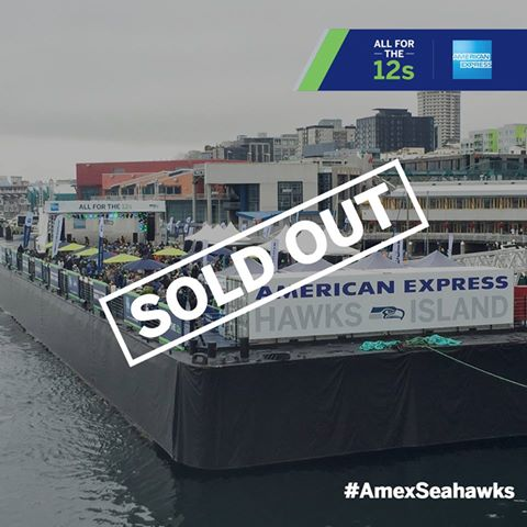 Hawks Island presented by AMEX for card member Seattle Seahawks fans known as 12s helped the team win a close game on Sunday over the Atlanta Falcons, credit: Mat Heyward Getty Images for American Express.