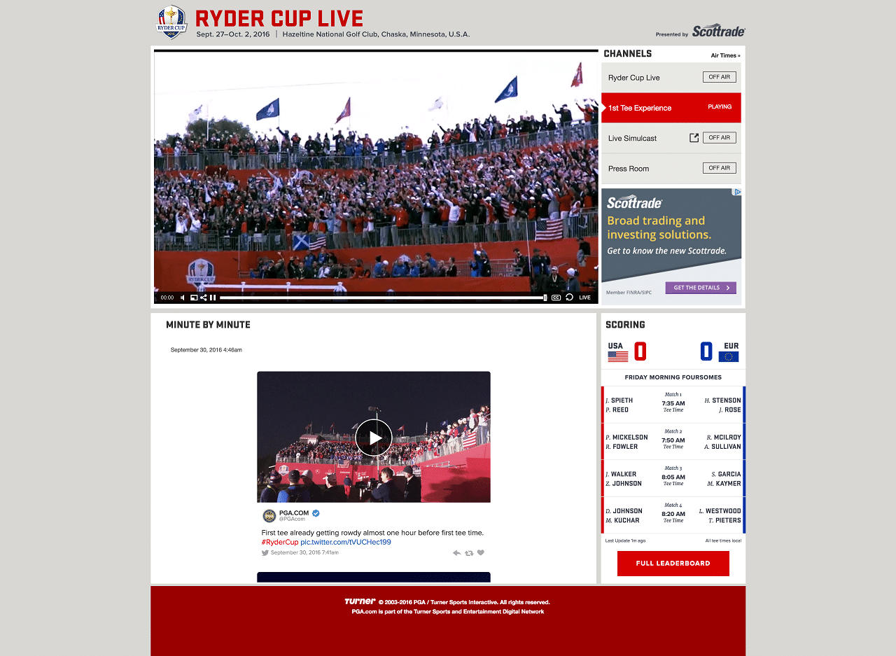 RyderCup.com & Ryder Cup App Deliver All-Time Audience Records