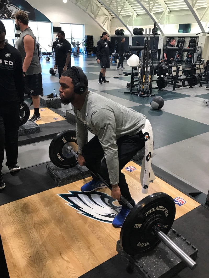 Marcus Smith of the Philadelphia Eagles increased his squat by 10lbs after one week with Halo Sport.