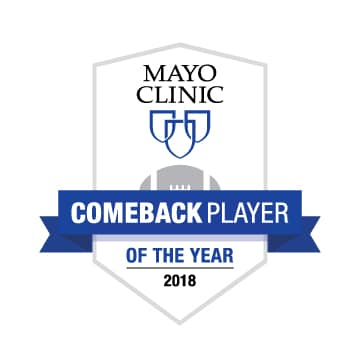 New Mayo Clinic Comeback Player Of The Year Award College
